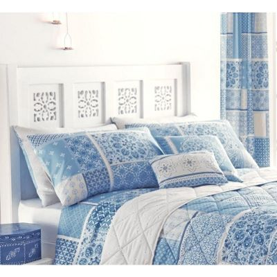 Dreams n Drapes Shantar China Blue Housewife Pillowcases - Pair