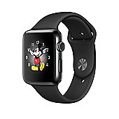 Apple Series 2 (42mm) Watch with Space Black Stainless Steel Case and Space Black Sport Band