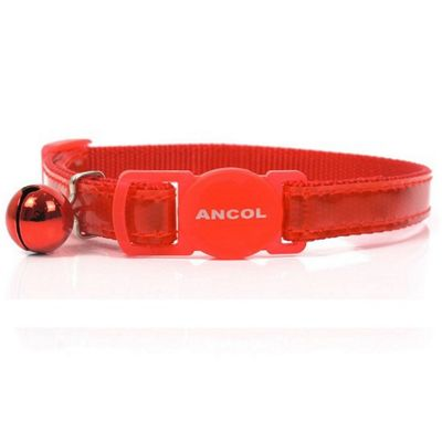Ancol Acticat Gloss Reflective Cat Collar - Red