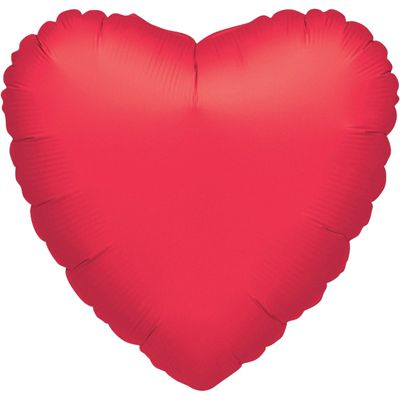 Red Heart Balloon - 32 inch Foil