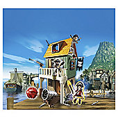 Playmobil 4796 Super 4 Camouflage Pirate Fort with Ruby