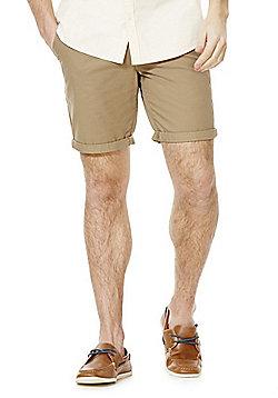 F&F Turn-Up Chino Shorts - Stone