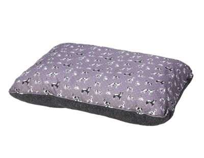 Grey Waterproof Dog Print Cushion S/M