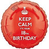 Keep Calm its your 18th Balloon - 18 inch Foil
