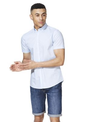 F&F Geo Wave Print Short Sleeve Shirt Blue M