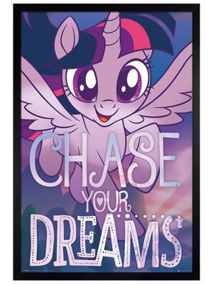 My Little Pony Black Wooden Framed Chase Your Dreams Poster 61 x 91.5cm