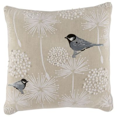 buy tesco embroidered bird cushion multicoloured from our. Black Bedroom Furniture Sets. Home Design Ideas