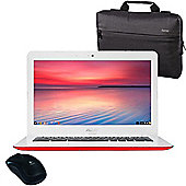 "ASUS Chromebook 13.3"" Laptop Intel Celeron N3060 2GB 32GB Chrome OS With Wireless Mouse & Case"
