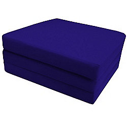Ready Steady Bed Single Cotton Twill Fold Out Cube - Royal Blue