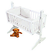 PreciousLittleOne Crib Set (Dimple White)