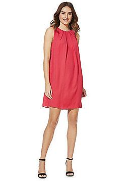 F&F Tie-Back Shift Summer Dress - Hot pink