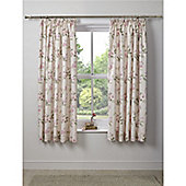 Dreams n Drapes Lorena Pencil Pleat Lined Curtains - 66x72 Inches (167x183cm) - Pink