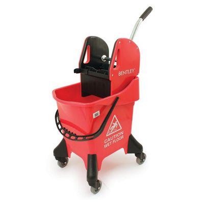 Charles Bentley Professional Heavy Duty 31L Mop Bucket in Red