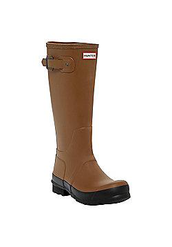 Hunter Mens Original Two Tone Tall Wellies - Dark Slate - Light brown