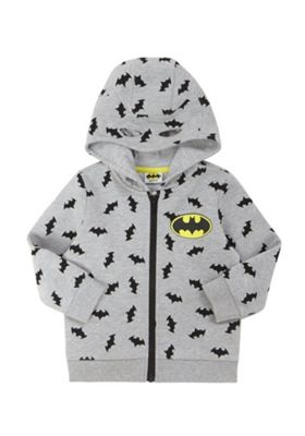 DC Comics Batman Print Marl Hoodie with Cape Grey Marl 18-24 months