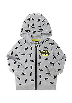 DC Comics Batman Print Marl Hoodie with Cape - Grey marl