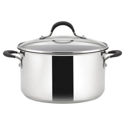 Circulon Momentum Stainless Steel 24cm Induction Stock Pot
