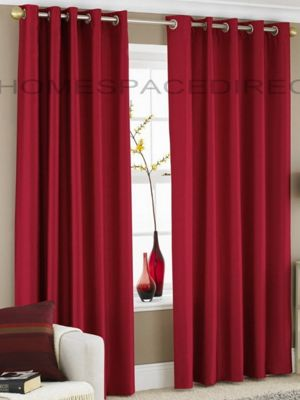 Faux Silk fully lined eyelet curtains - 66x72