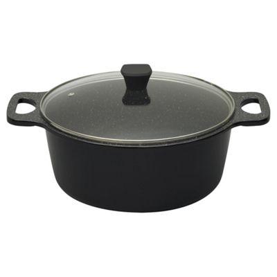 Prestige Stone Quartz Cast Aluminium 28cm/6 Litre induction Casserole Dish with Lid