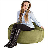 Lounge Pug® 2 in 1 Extra Large Bean Bag Chair & Pouffe - Cord Lime Green