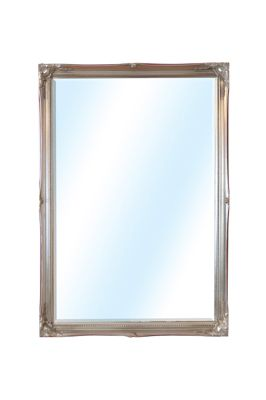 Large Silver Ornate Antique Design Big Salon Wall Mirror 3Ft4 X 2Ft4 101 X 71Cm