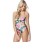 F&F Floral Print Bandeau Swimsuit - Multi