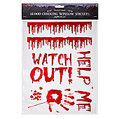 Halloween Bloody Window Stickers Party Decoration-Watch Out