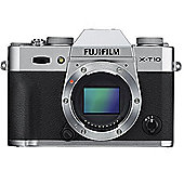Fuji X-T10 Digital Camera Body - Silver