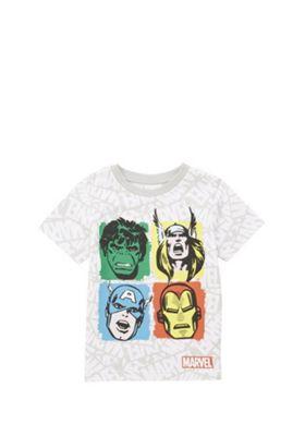 Marvel The Avengers T-Shirt White/Multi 12-18 months