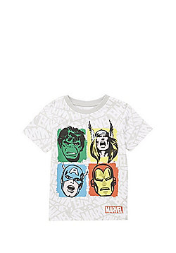 Marvel The Avengers T-Shirt - White/Multi