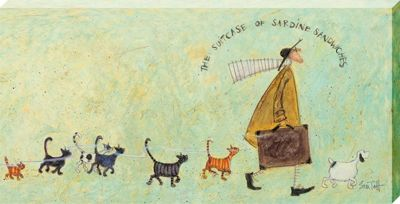 Sam Toft The Suitcase of Sardine Sandwiches Large Canvas Print 50 x 100cm