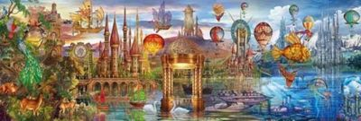 Fantasy Panoramic - 1000pc Panoramic Puzzle