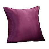 Hamilton Mcbride Faux Silk Cushion Cover Aubergine - 43x43cm