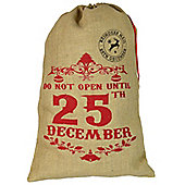 Christmas Stocking, Hessian Gift Sack - 'Do Not Open Until 25th December'