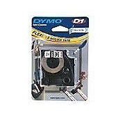Dymo S07180505 D1 Flexible Nylon Tape (19mm) - Black on White
