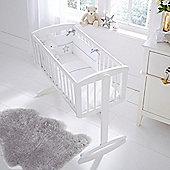 Clair de Lune 2pc Crib Bedding Set (Silver Lining White)