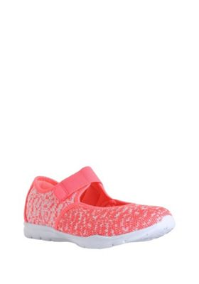 F&F Knitted Runner Trainers Pink Adult 2