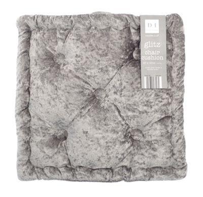 Country Club Velvet Seat Pad, Dusky Grey