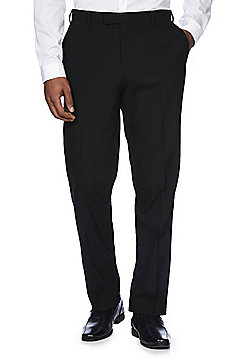 F&F Slim Fit Tuxedo Trousers - Black