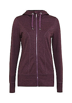 F&F Active Space Dye Lightweight Fleece Lined Hoodie - Purple