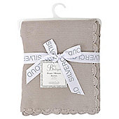 Baby Garter Stitch Blanket Grey