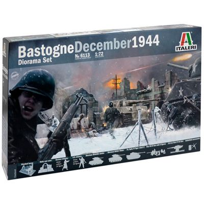 ITALERI Battle of Bastogne Dec 1944 Diorama Set 1:72 Figures Model Kit 6113