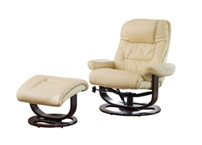 Sofa Collection Montreal Swivel Chair And Footstool - Cream