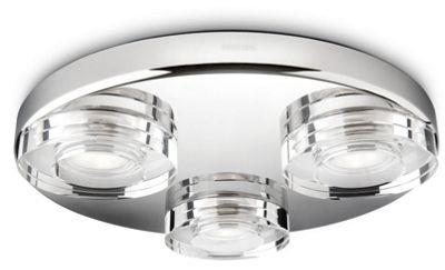 Bathroom Lights Tesco buy philips my bathroom mira 3 light ceiling light in chrome from