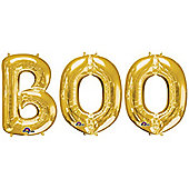 """BOO' Gold Foil Balloon Kit - 34"""""""
