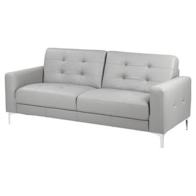 Rivington Large 3 Seater Leather Sofa, Grey