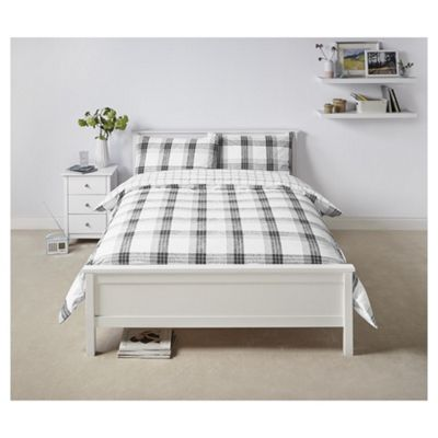 Tesco  Black check Duvet single