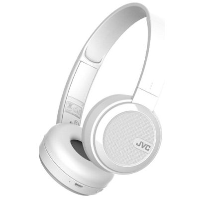 JVC HA-S40 Bluetooth On-Ear Headphones - White