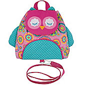 Toddler Backpack with reins, Nursery Backpack With Reins - Owl