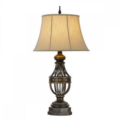 Antique Brown 1lt Table Lamp - 1 x 60W E27